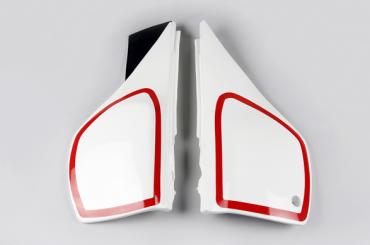 Fiancatine laterali Ufo per Yamaha XT 600cc dal 1987 al 1990 bianche