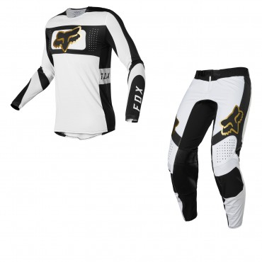 Completo cross enduro Fox FLEXAIR MIRER black yellow 2022 pantaloni+maglia