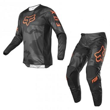 Completo cross enduro Fox 180 TRICE Grey Orange 2022 pantaloni+maglia