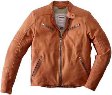 Giubbino moto pelle Rev'it FLATBUSH marrone