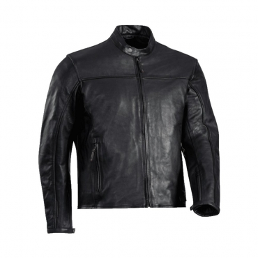 Giubbino moto pelle Rev'it NAPLES Nero