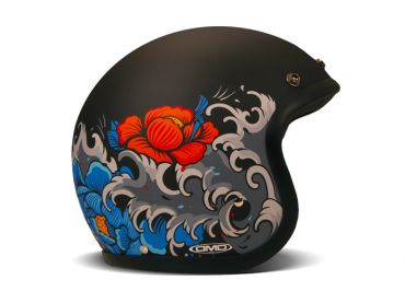 Casco jet Airoh RIOT FLAME rosso