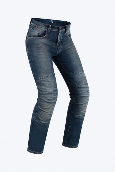 Jeans da moto con protezioni e Twaron® PMJ VOYAGER SHORT Blu