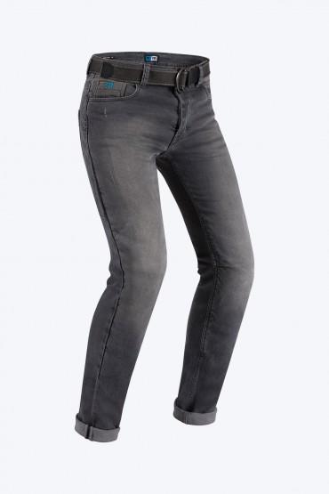 Jeans da moto donna con protezioni e Twaron® Pmj CAFE RACER LADY Blu