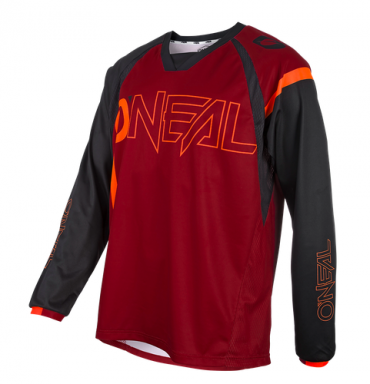 Maglia bici O`Neal AERIAL SPLIT red/orange