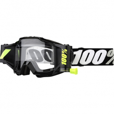 Occhiali (maschera) cross ROLL OFF 100% ACCURI FORECAST Fluo Yellow