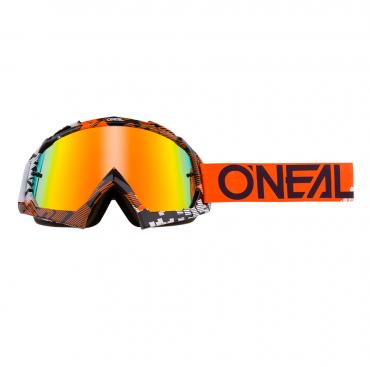 Occhiali (maschera) cross 100% STRATA 2 UPSOL nero lente trasparente