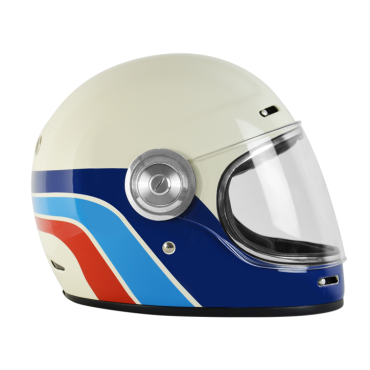 Casco VINTAGE integrale ORIGINE Vega Custom Silver Matt