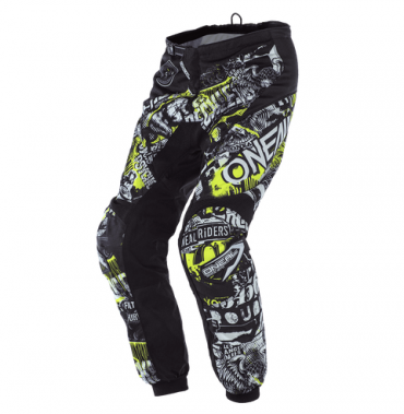 Pantaloni enduro impermeabili Shot CLIMATIC Black Neon Yellow