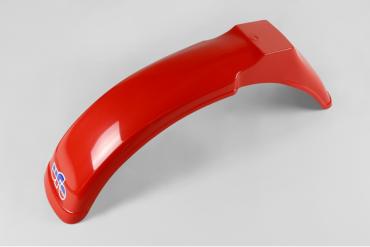 Portanumero anteriore Rosso Ufo con passafilo e fascette fissaggio per Beta 125 1979-80