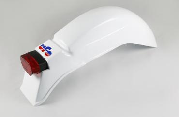 Parafango posteriore universale Ufo con fanalino tondo per Ktm (1975-1976) Bianco