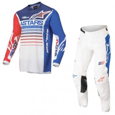 Completo cross Seven Rival Trooper 2 Blue 2020 pantaloni+maglia
