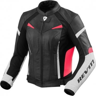 Giubbino moto pelle Alpinestars FASTER LEATHER JACKET nero rosso