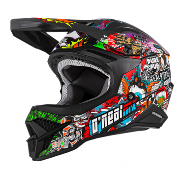 Casco dual road O'Neal Sierra R black grey