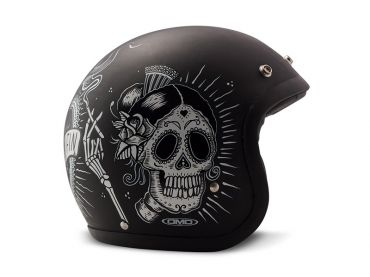 Casco jet DMD Vintage MATT BLACK