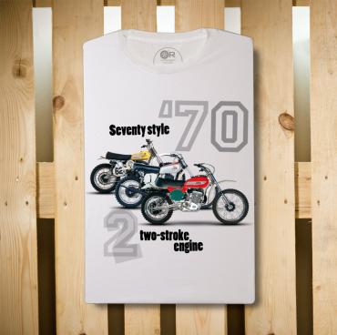 T-Shirt Original Race Vespa ET3 bianco cotone organico