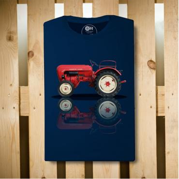 T-Shirt Original Race DUNE BUGGY Blu Navy cotone organico