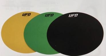 Parafango anteriore universale cross-enduro ufo con bordi laterali (1975-1979) giallo chiaro