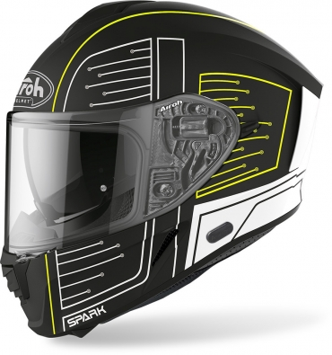 Casco integrale Bell BULLIT DLX Stripes Pearl White