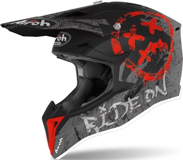 Casco cross enduro O'Neal serie 1 SOLID red