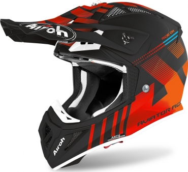 Casco cross enduro O'Neal serie 3 ATTACK black/hi-viz