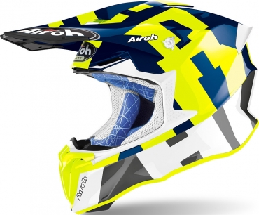 Casco Airoh cross enduro TERMINATOR OPEN VISION Shock Orange