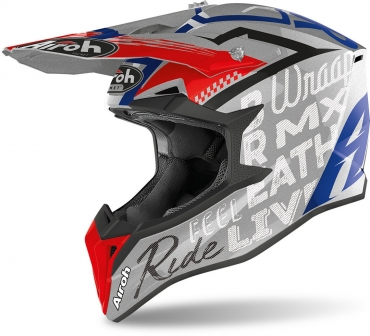 Casco Airoh cross enduro WRAAP SMILE RED Matt