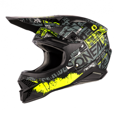 Casco cross enduro O'Neal Serie 3 RIFF 2.0 black/gray