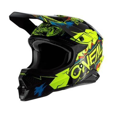 Casco Airoh cross enduro TWIST CRAZY BLACK Gloss