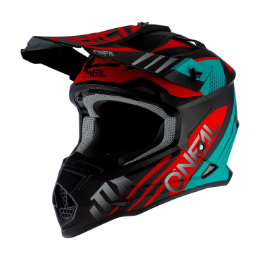 Casco cross Alpinestars Supertech S-M8 RADIUM Black matte mid Gray Teal