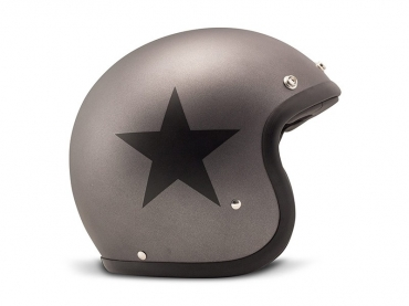Casco jet DMD Vintage STAR BLACK