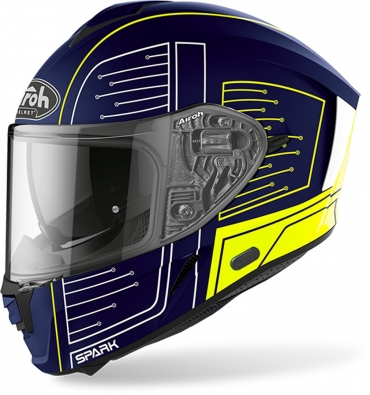 Casco integrale HJC CS-15 DOSTA MC4HSF Giallo Opaco