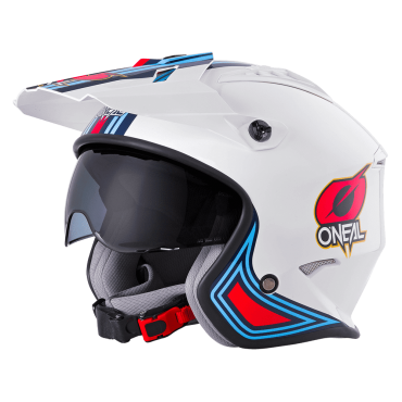 Casco jet FELIX ST520 Gulf Le Mans Bianco Arancio