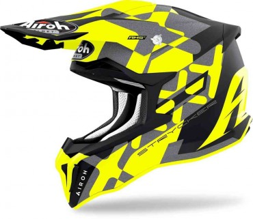 Casco cross Alpinestars Supertech S-M8 RADIUM Black matte mid Gray Yellow flou