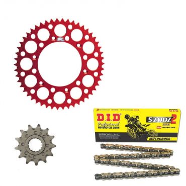 Kit trasmissione corona Supersprox catena Did O-Ring pignone per Honda CR 125 CR 250 CRF 250 CRF 450 CRFX 250 CRFX 450