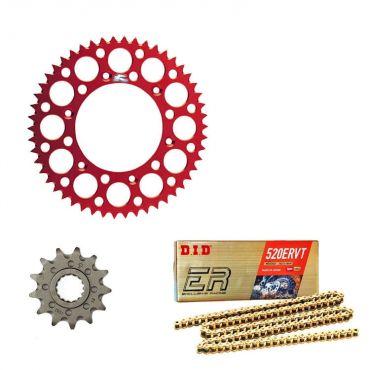 Kit trasmissione corona Renthal catena Did pignone per Beta RR 250 300 350 390 400 430 450 480 498 dal 2013
