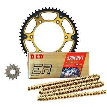 Kit trasmissione corona Supersprox catena Did O-Ring pignone per Suzuki RM 125 250 1986-2014 RMZ 250 07-20 RMZ 450 05-20 RMX 10-14 DR 350 DRZ 400