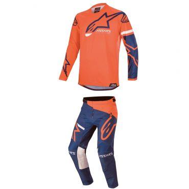 Completo cross enduro O'Neal ELEMENT VANDAL maglia+pantaloni nero arancio giallo fluo