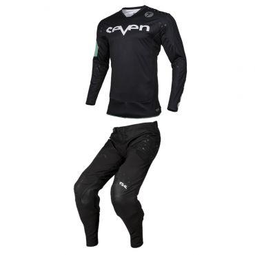 Completo cross Seven Rival Trooper 2 Nero Bianco 2020 pantaloni+maglia