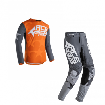 Completo cross O'Neal ELEMENT FACTOR grey orange blue 2020 maglia+pantaloni