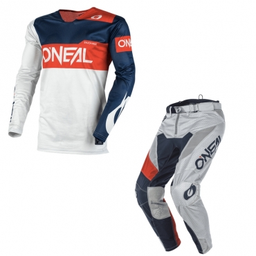 Completo cross bambino O'Neal ELEMENT FACTOR Orange blue pantaloni+maglia