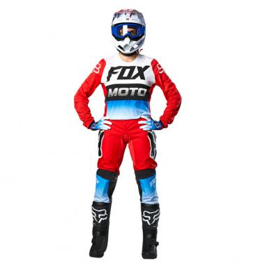 Completo cross enduro O'Neal ELEMENT RACEWEAR 2018 maglia+pantaloni blu bianco giallo