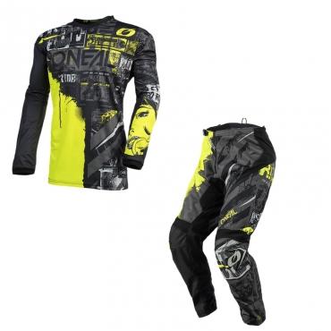 Completo cross O'Neal MATRIX RIDEWEAR 2021 black grey maglia+pantaloni