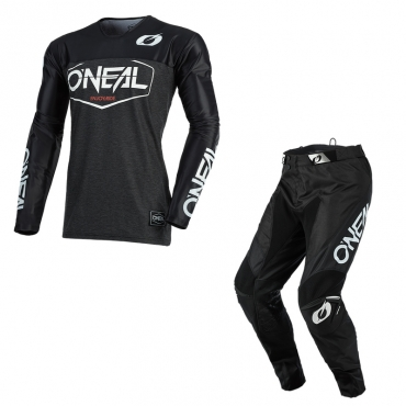 Completo cross O'Neal MAYHEM COVERT 2021 charcoal neon yellow maglia+pantaloni