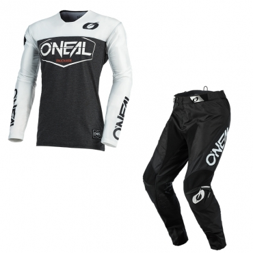 Completo cross O'Neal MAYHEM COVERT 2021 black green maglia+pantaloni