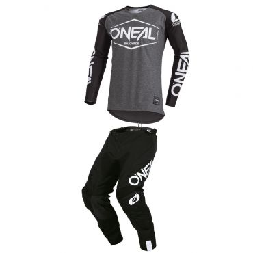 Completo cross O'Neal ELEMENT RIDE 2021 black blue maglia+pantaloni