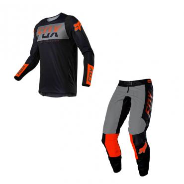 Completo cross Seven Rival Rampart Nero 2021 pantaloni+maglia