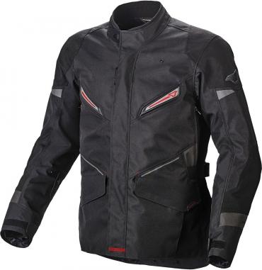 Giubbino traforato Alpinestars AST AIR TEXTILE JK nero bianco rosso