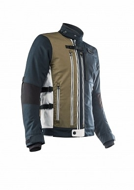 Giacca moto traforata Rev'it TORNADO 3 Silver Black