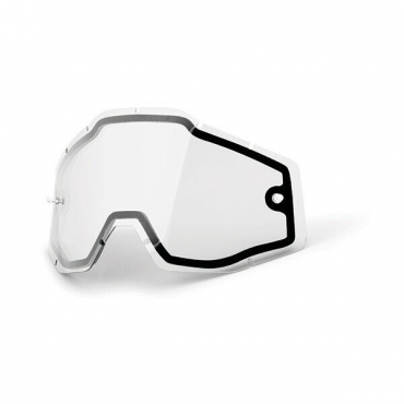 Occhiali (maschera) cross 100% Accuri 2 OTG Orange lente chiara